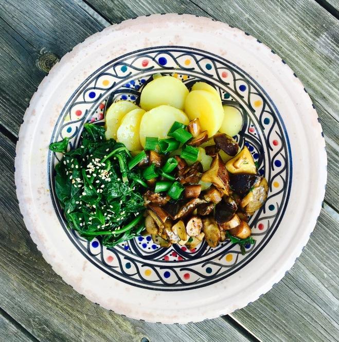 Maronen Spinat Kartoffeln