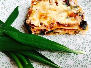 Bärlauch Lasagne mit Soja Hackfleisch