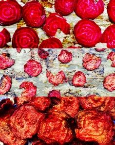 Rote Beete Chips aus dem Ofen