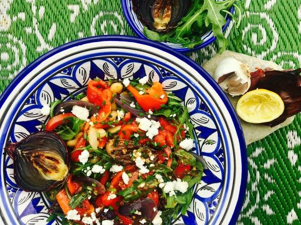 Bohnensalat mit Harissa-Thymian-Dressing