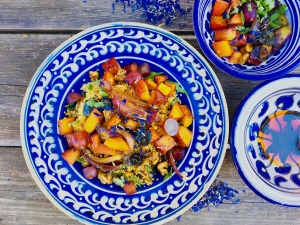 Couscous-Bowl mit Kürbis und Honig