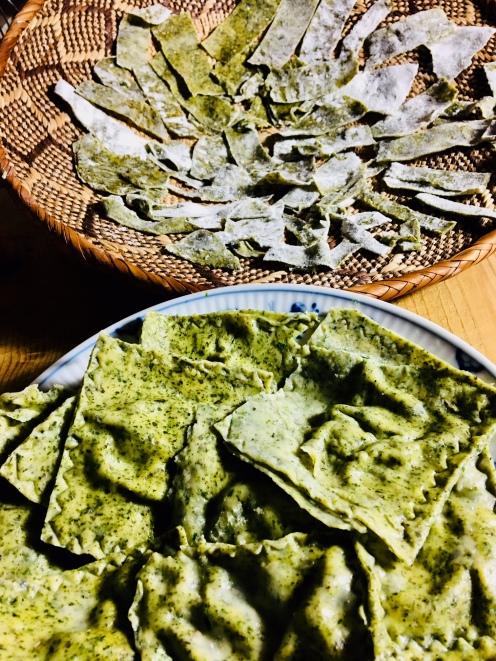 Ravioli mit Grünmehl